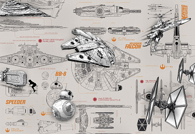 Фотообои Komar Star Wars 8-493 STAR WARS Blueprints