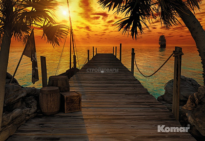 Фотообои Komar Tropical 8-918 Treasure Island